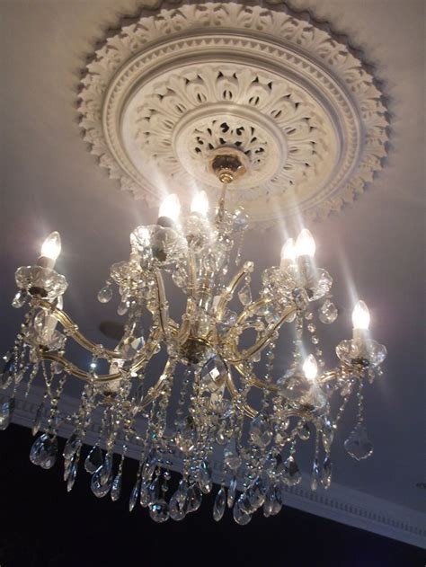 Medallion For Chandelier Addicted To Both I Want A Medallion My Chandelier In My Living Room My Kitchen In My