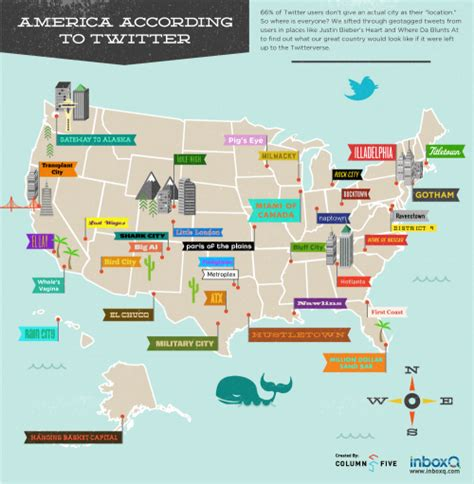 united states map with state names and cities u s city names according to neatorama
