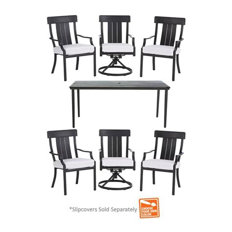Hton Bay Oak Heights 7 Piece Patio Dining Set With 7pc Patio Dining Set