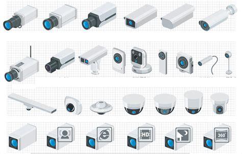 cctv visio stencils hd security system