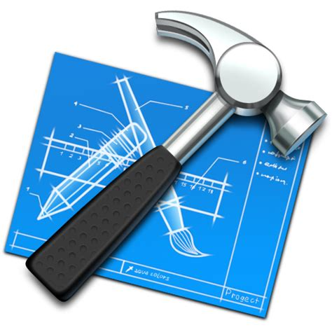 xcode design app icon blueprint build develop developing development hammer