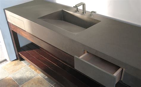 Custom Kitchen Faucets by Custom Concrete Bathroom Sinks Trueform Concrete