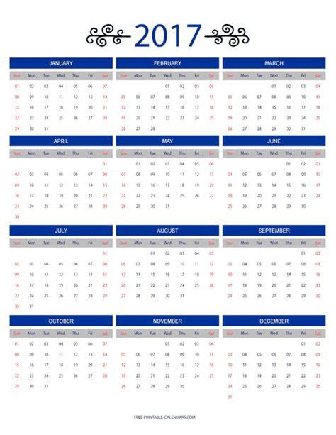 12 Month Calendar 2017 2017 12 Month Printable Calendar Printable Calendar 2017