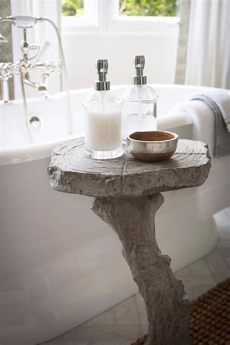 Bathroom Accent Table Bathtub With Glass Top Directoire Accent Table Traditional Bathroom
