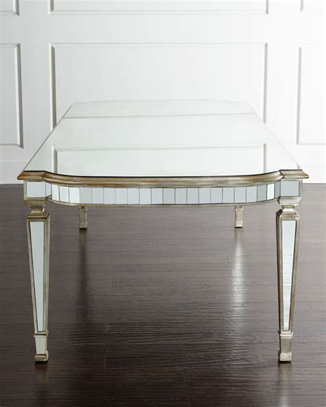 richard collection eliza mirrored dining table