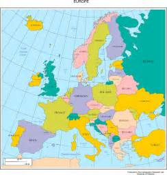 on europe map map of europe free large images