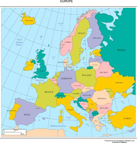 map of eurpore map of europe free large images