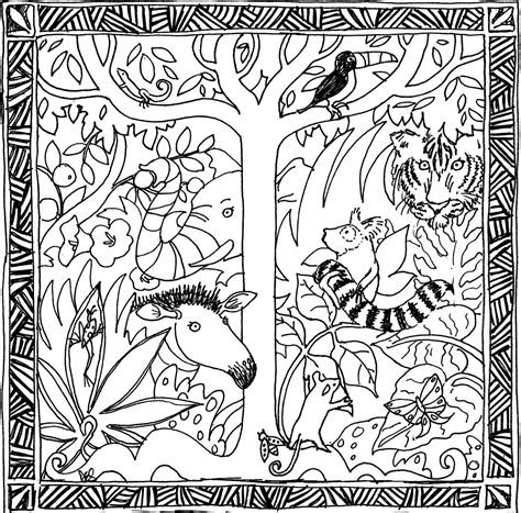 free printable coloring pages rainforest free coloring pages of forest tree
