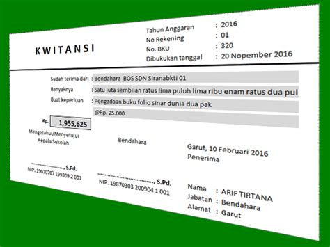 Contoh Penulisan Kwitansi Pembayaran by Contoh Aplikasi Cetak Kwitansi Dengan Format Excel