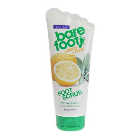 new freeman new freeman bare foot lemon and foot scrub with