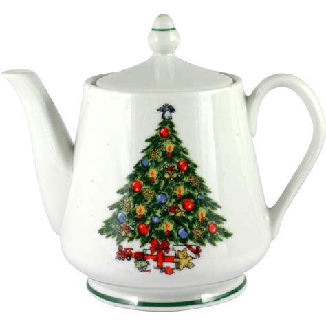 christmas tree china teapot mount clemens 5 cup made in
