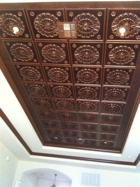 how to install tin ceiling faux tin ceiling projects decorative ceiling tiles inc