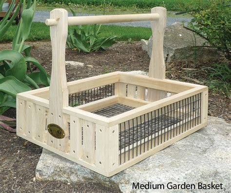 Gardening Basket Garden Baskets Amish Handcrafted Wooden Basket