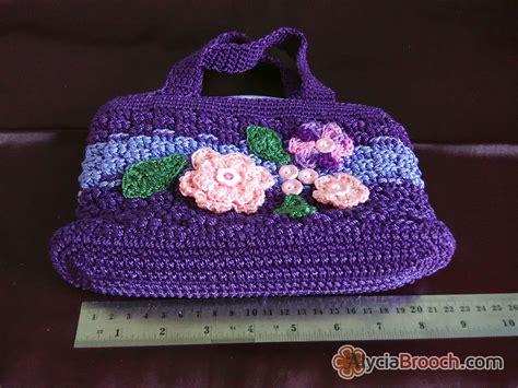 Tutorial Tas Rajut Nylon | tutorial tas rajut motif bunga jual flowery handbag rajut