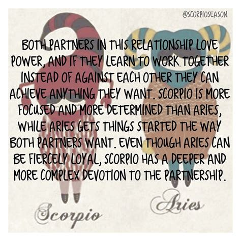 scorpio aries both partners in this relationship love
