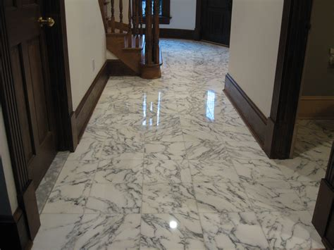 Kitchen Floor Porcelain Tile Ideas by Considering Marble Flooring Here Are The Pros And Cons