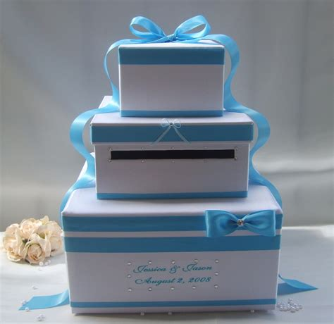 how to make a wedding card box with fabric sky color card box for wedding trendyoutlook