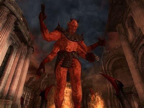oblivion killing mehrunes dagon youtube