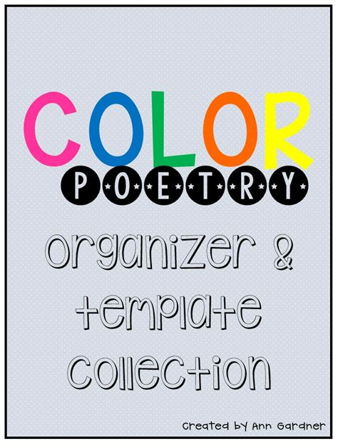 color poem template 47 best images about poetry ideas on poetry