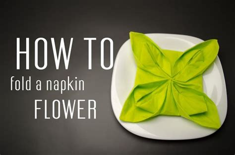 Paper Napkin Flower Folding - how to fold a flower and step by step on