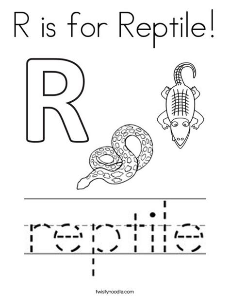 preschool lizard coloring page r is for reptile coloring page twisty noodle