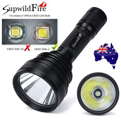 Led U3 8000lm supwildfire cree xm l2 u3 led 5 mode 18650 flashlight torch light au aud 24 86