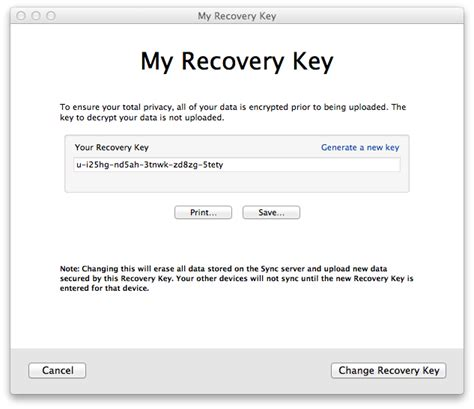 resetting recovery key pairing problems brian warner