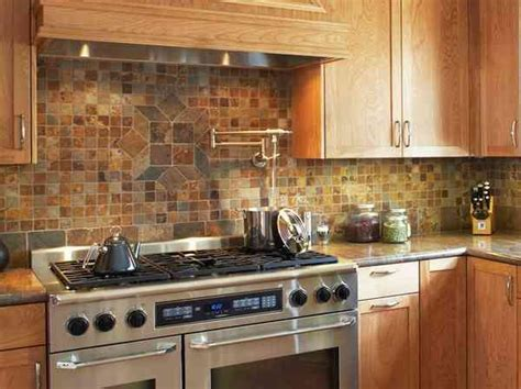 rustic backsplash mini stone tiles 30 rustic kitchen backsplash ideas