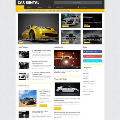 bootstrap themes rental car rental bootstrap themes templatemonster