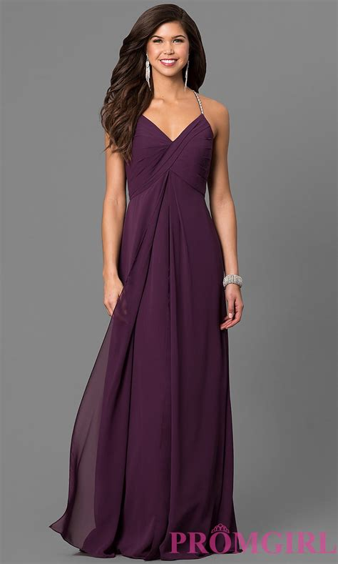 Bj Line Dress Blue eggplant purple chiffon prom dress promgirl