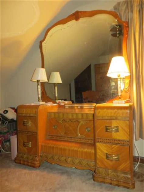 bedroom waterfall 1940s art deco antique waterfall full bedroom 6 piece set