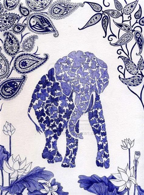 pattern elephant art 38 best elephants illustrations silhouette images on