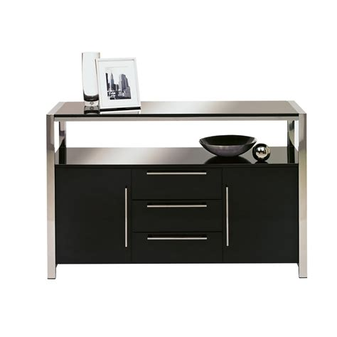 Sideboard Black Gloss charisma sideboard black gloss at wilko