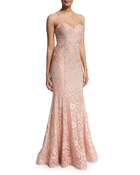 jovani strapless mermaid gown in lyst
