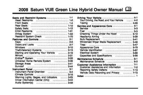 2008 saturn vue hybrid owners manual just give me the damn manual