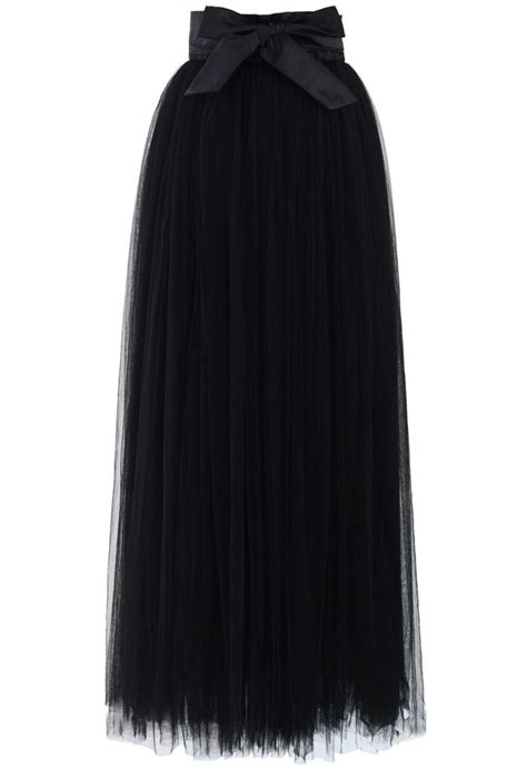 maxi tulle prom skirt in black my style