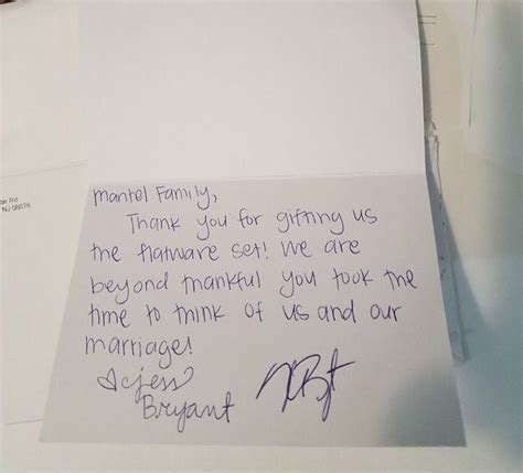 Thank You Note For Handmade Gift - kris bryant sending thank you notes to cubs fans who sent