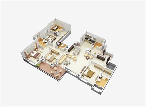 Home Design 3d Open Source 50 Four 4 Bedroom Apartment House Plans Architecture