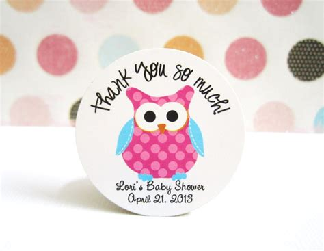 Stiker Pengiriman Onlineshop Owl pink polkadot owl with turquoise wing stickers personalized 183 adorebynat 183 store powered