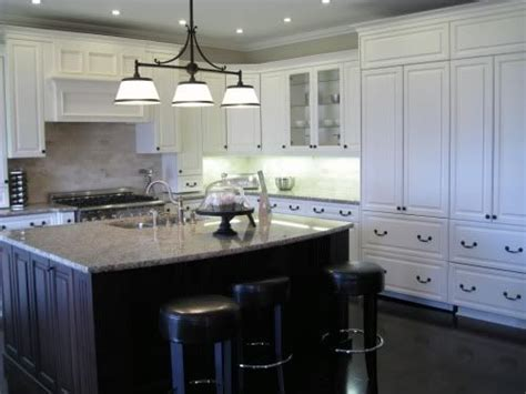 White Kitchen Dark Island | granite dark island vs light cabinetry for the home
