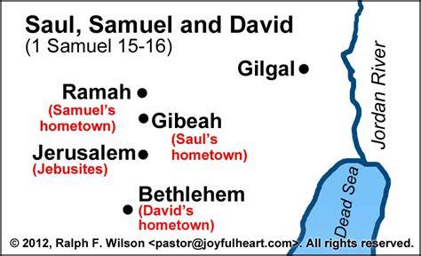 samuel anoints david  king  samuel   life