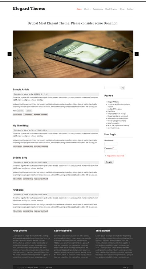 Elegant Theme Drupal Org Drupal Custom Theme Template