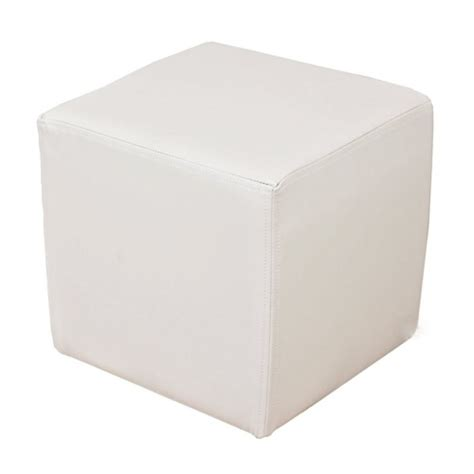 white square ottoman contempo linens lounge furniture ottoman cube white