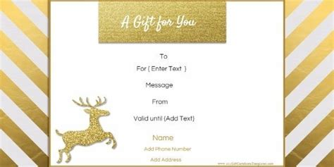 editable christmas gift certificate template  designs