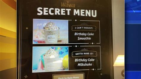 secret menu wawa secret menu unlocked 6abc