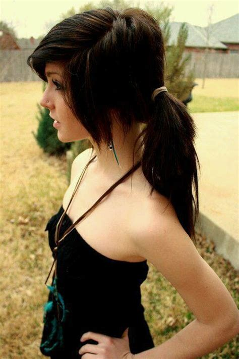 Emo Hairstyles Tied Up | hair exactly how i want my hair to look when tied back
