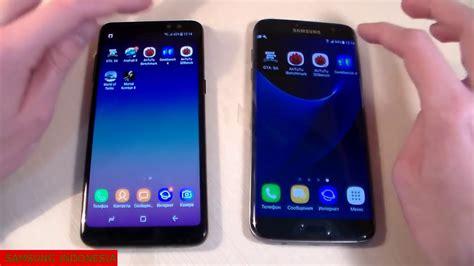 Samsung A8 Vs S7 Edge samsung galaxy a8 2018 vs samsung galaxy s7 edge speed