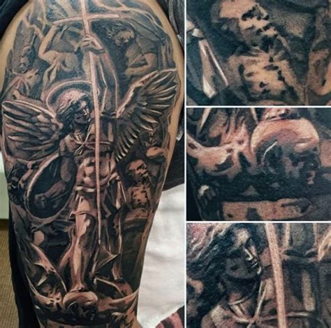 tattoo st michael angel 75 st michael tattoo designs for men archangel and