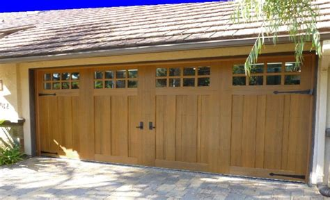 Faux Wood Carriage Style Garage Ridge Collection Stained Faux Wood Carriage House Door Design 13 Sq24 Windows With