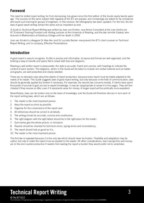 writing technical paper technical report writing
